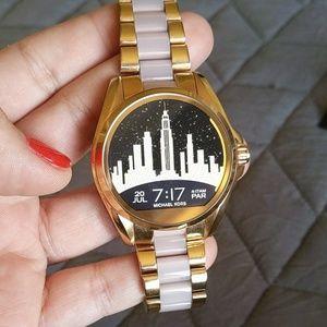 Rose Gold/Pink Michael Kors smartwatch